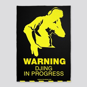 Warning DJing in Progress 5'x7'Area Rug